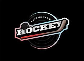 logotipo del deporte de hockey