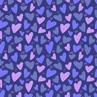 corazón de patrones sin fisuras vector