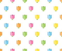 Colorful tulip seamless pattern for background