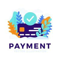 Credit card vector stock illustration for landing page