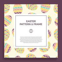 Easter egg banner square frame