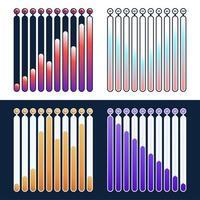 Set of premium quality marketing analytics bar charts