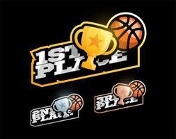 conjunto de competición de baloncesto vector