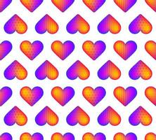 patrón de corazón realista arco iris transparente vector