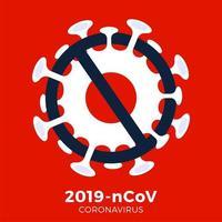 Japan flag Sign caution coronavirus germ