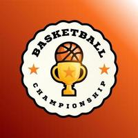 Champion basketball vector logo.