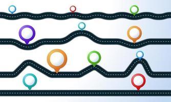 carreteras rectas y sinuosas con juego de pasadores