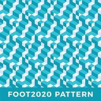 diseño de patrón transparente isométrico de línea de cubo