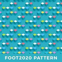 diseño de patrones sin fisuras isométrico cubo