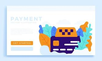 Taxi sign and Credit Card Vector stock illustration