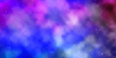 Light Multicolor vector background with colorful stars.