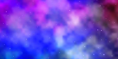 Fondo de vector multicolor claro con estrellas de colores.