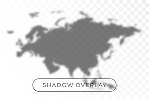 Asia and Europe World map shadow vector