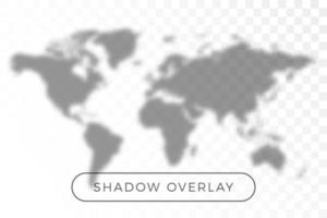 World map shadow realistic grey decorative background vector