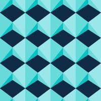 patrón transparente de formas de joya geométrica azul claro