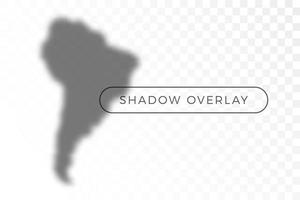 South America World map shadow vector