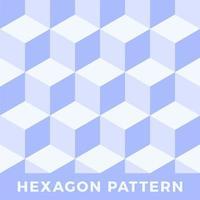 Hexagon seamless abstract cube vector pattern