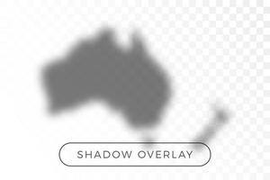 Australia world map shadow vector