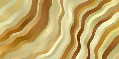 Light Orange vector pattern with curved lines