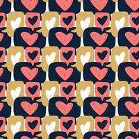 Hand drawn chat heart dialog speech seamless pattern vector