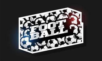 tipografía profesional moderna fútbol deporte estilo retro logo vector