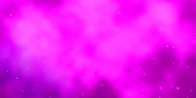 Light Pink vector layout with bright stars.