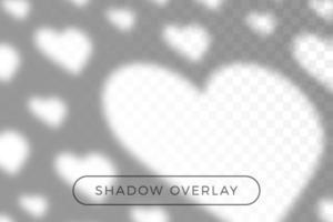 Shadow of heart overlay effects for mockup