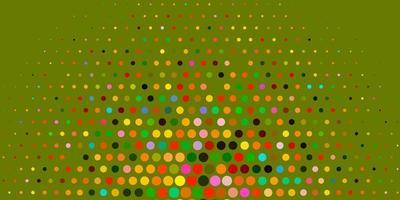 patrón de vector multicolor claro con esferas.