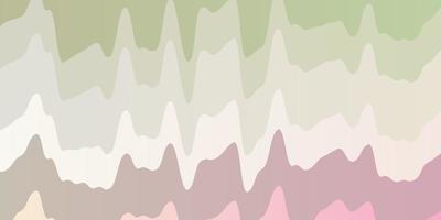 patrón de vector multicolor claro con líneas curvas.