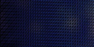 diseño de vector azul oscuro con líneas.