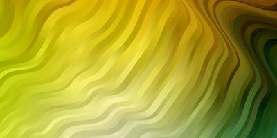 patrón de vector verde claro, amarillo con líneas.