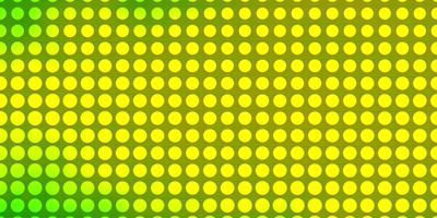 Light Green, Yellow vector background with circles.