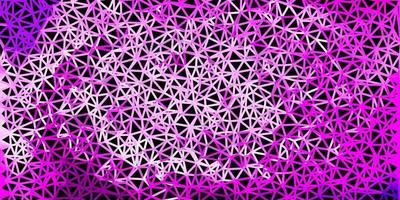 Plantilla de triángulo de poli vector púrpura claro, rosa.