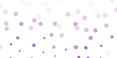 Light purple vector texture with bright snowflakes.