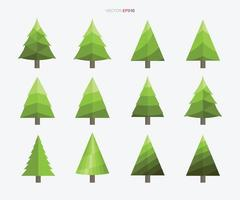 colección de árbol de navidad. signo y símbolo de árbol abstracto. vector. vector