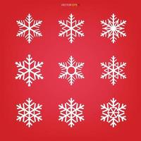 Snowflake icon set. Snowflake sign and symbol for Christmas template. Abstract star. Vector. vector