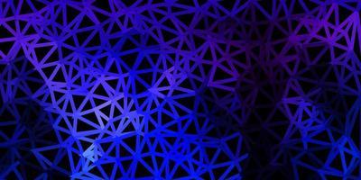 Dark pink, blue vector triangle mosaic pattern.