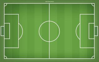 campo de fútbol o campo de fútbol de fondo. Cancha de césped verde para crear un juego de fútbol. vector. vector