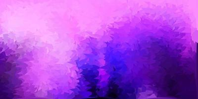 Dark purple, pink vector abstract triangle pattern.