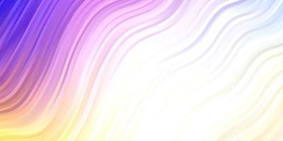 patrón de vector multicolor claro con líneas.