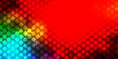 Dark Multicolor vector template with rectangles.