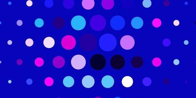 Light Pink, Blue vector texture with disks.