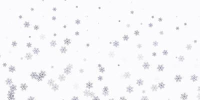 patrón de doodle de vector rosa claro, azul con flores.