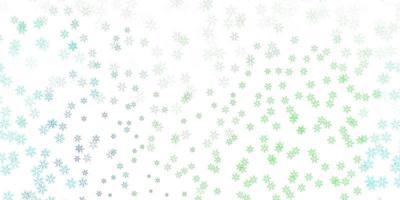 Telón de fondo abstracto de vector multicolor claro con hojas.