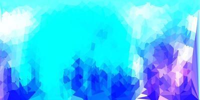 papel tapiz de mosaico de triángulo vector rosa claro, azul.