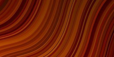 patrón de vector naranja oscuro con líneas torcidas.