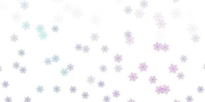 Light pink, blue vector doodle template with flowers.
