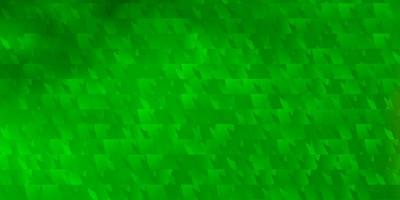 Light Green vector template with crystals, triangles.