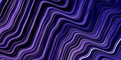 textura de vector de color púrpura claro con líneas torcidas.