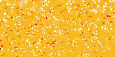 Telón de fondo de vector naranja claro con formas caóticas.